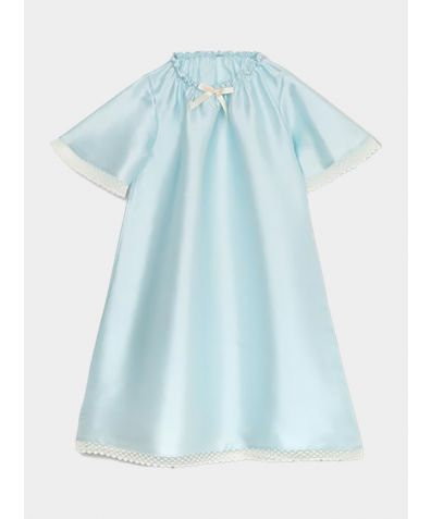 Girls Antonia Silk Nightdress - Blue