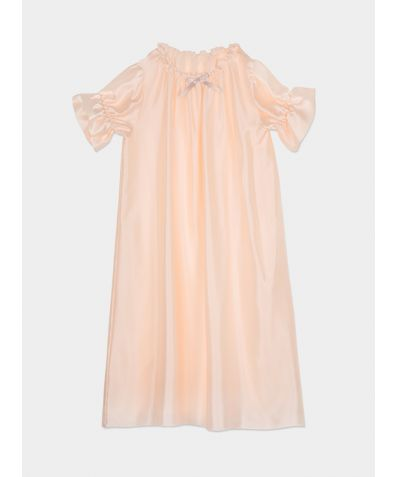 Girls Antonia Silk Nightdress – Peach