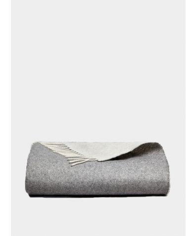 Anzan Reversible Cashmere Blanket - Mist
