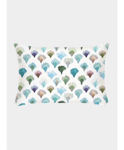 Silk Pillowcase 25 Momme - Aqua Fans