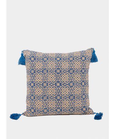 Hand Block Printed Cushion - Ari