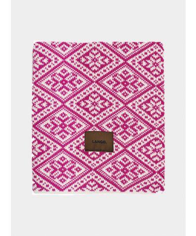 Wool Blanket - Pink White