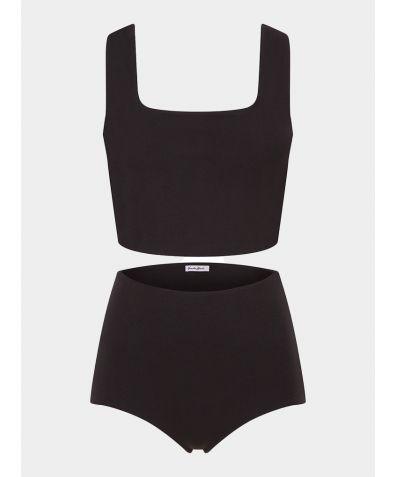 Aura Organic Cotton Short Set - Black