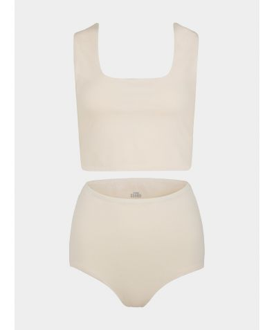 Aura Organic Cotton Short Set - Soft Nude
