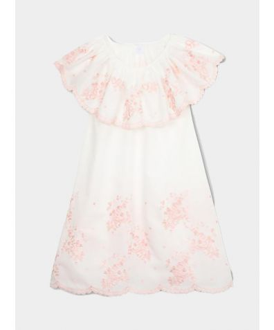 Girls' Aurelia Embroidery Nightdress - Pink