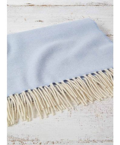 Gift Boxed Cashmere & Wool Blend Baby Blanket - Baby Blue