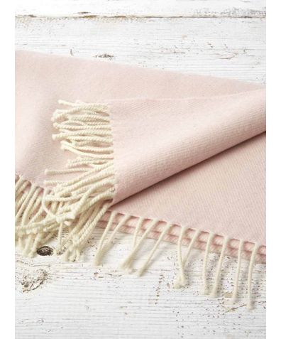 Gift Boxed Cashmere & Wool Blend Baby Blanket - Blush