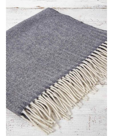 Gift Boxed Cashmere & Wool Blend Baby Blanket - Charcoal
