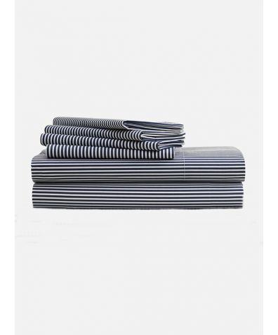 Lux 500 Thread Count Full Set - Blue Stripe