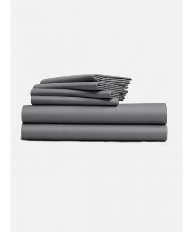 Lux 500 Thread Count Full Set - Smoke Grey