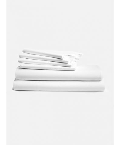 Lux 500 Thread Count Full Set - Solid White
