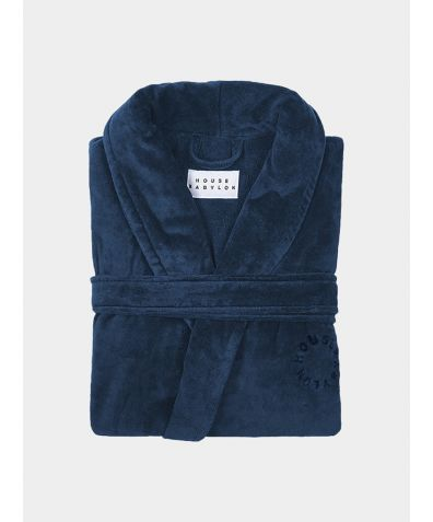 Organic Turkish Bathrobe - Blue