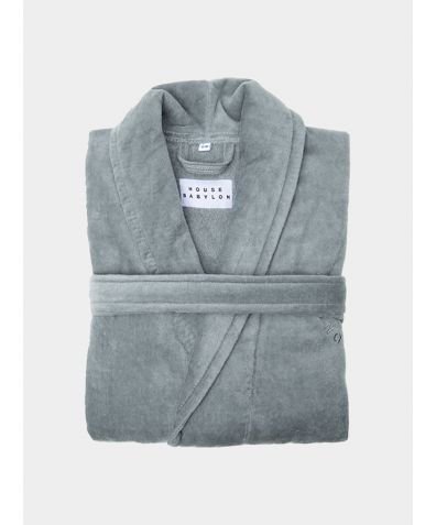 Organic Turkish Bathrobe - Grey