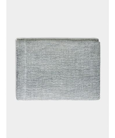 Blue Grey Soft Jacquard Linen Throw