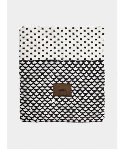 Wool Blanket - Black White Multiprint