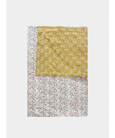 Liberty Bedspread - Betsy Grey & Capel Mustard