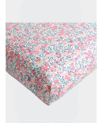 Liberty Print Fitted Sheet - Wiltshire Berry Pink
