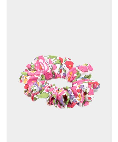 Liberty Print Hair Scrunchie - Betsy Pink