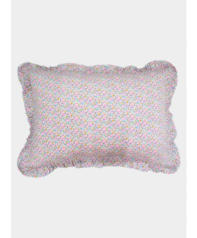 Liberty Print Frill Pillowcase - Betsy Ann Pink