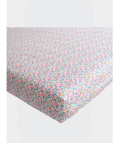 Liberty Print Fitted Sheet - Betsy Ann Pink