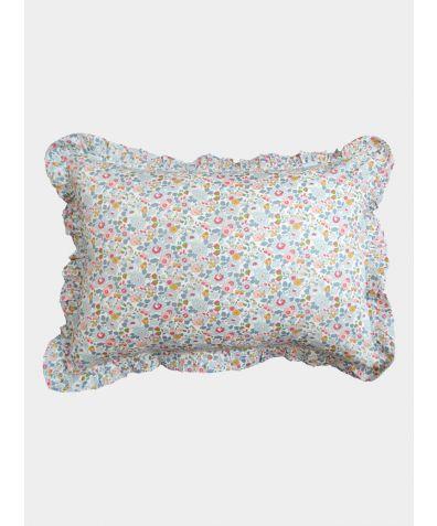 Liberty Print Frill Pillowcase - Betsy Grey