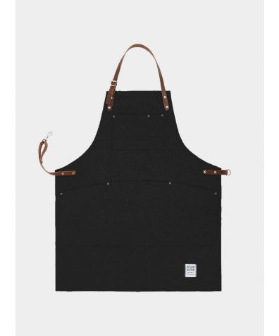 Original Apron with Leather - Black