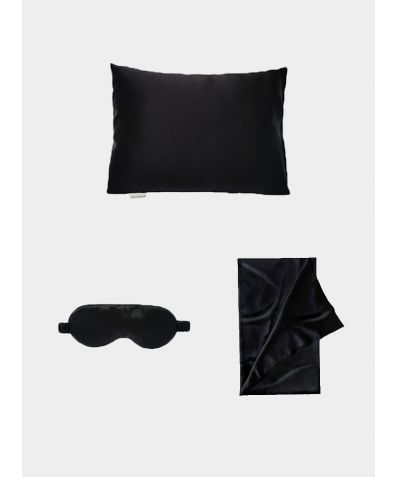 Silk Travel Set - Midnight Black