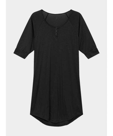 Women's Everyday Organic Pima Cotton Nightgown - Black