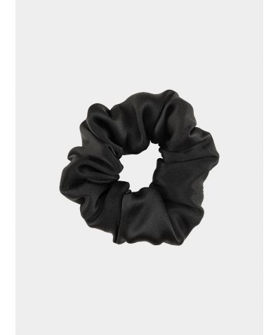 Silk Scrunchie - Solid Black