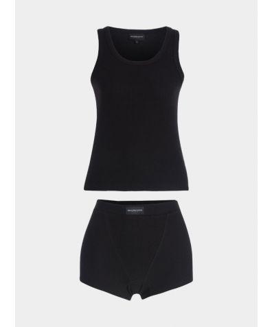 Pyjama Cotton Boxer Set - Black