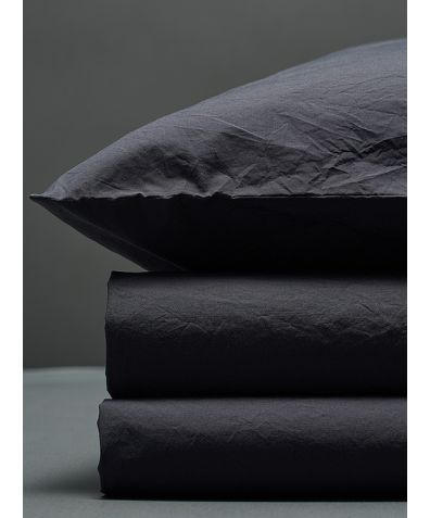 300 Thread Count Egyptian Cotton Percale Duvet Set - Dark Grey