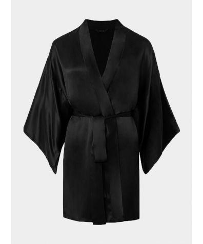 Silk Kimono - Mila Black