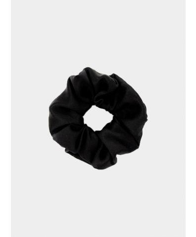 Luxe Pure Silk Hair Scrunchie - Black