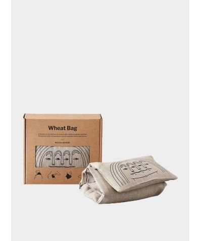 Blue Face Linen Wheat Bag – Hot and Cold Pack