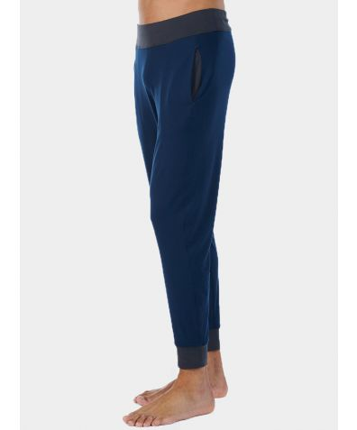 Mens Nattwell® Sleep Tech Cuff Trousers - Midnight Blue