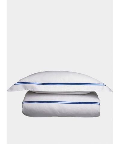 300 Thread Count Cotton Sateen Flat Sheet - Provence Blue