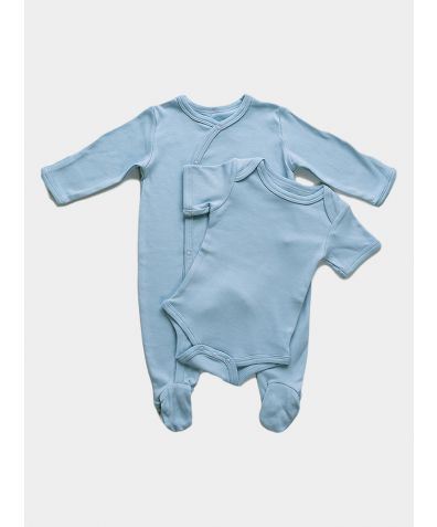 2-Piece Organic Baby Gift Set - Blue