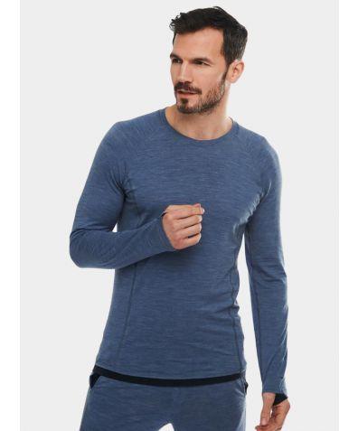 Mens Nattwarm® Sleep Tech Long Sleeve Top - Blue Melange