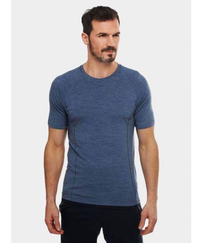 Mens Nattwarm® Sleep Tech T-Shirt - Blue Melange