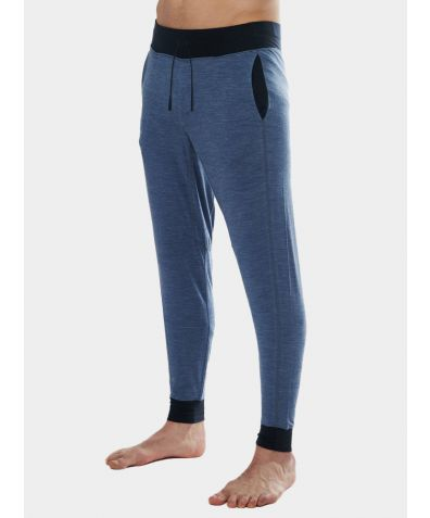 Mens Nattwarm® Sleep Tech Trousers - Blue Melange