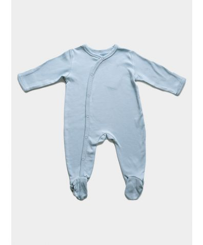 Organic Cotton Baby Sleepsuit - Blue