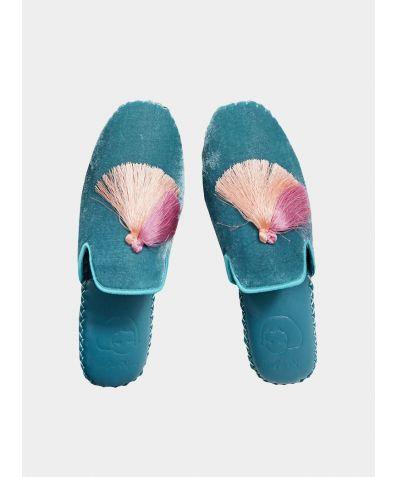 Women's Classic Handmade Slipper - Blue