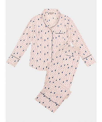 Mulberry Silk Pyjama Trouser Set - Kochi Pink