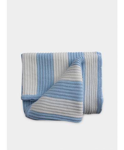Organic Knitted Bamboo Blanket - Hydrangea