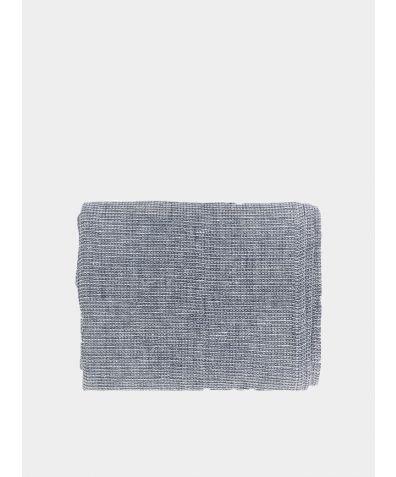 Linen Waffle Towel - Blue