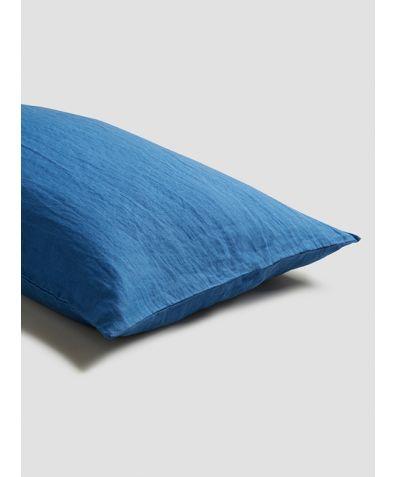 Linen Pillowcases (Pair) - Egyptian Blue