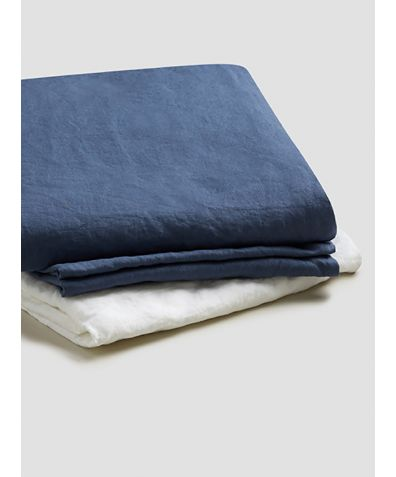Natural French Flax Linen Basic Bundle - Blueberry