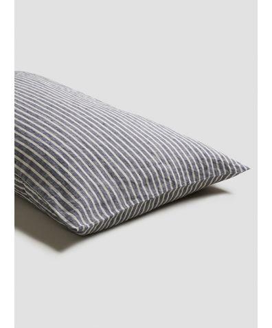 Linen Pillowcases (Pair) - Midnight Stripe