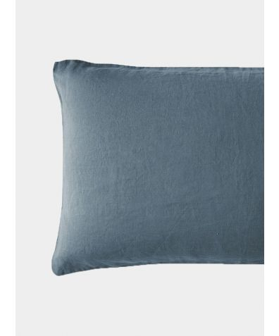 French Linen Oxford Pillowcase - Parisian Blue