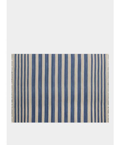 Cotton Handwoven Rug - Blue Horizon